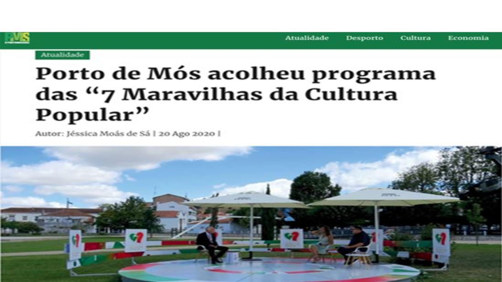Porto de Mós acolheu o programa das 7 Maravilhas da Cultura Popular®