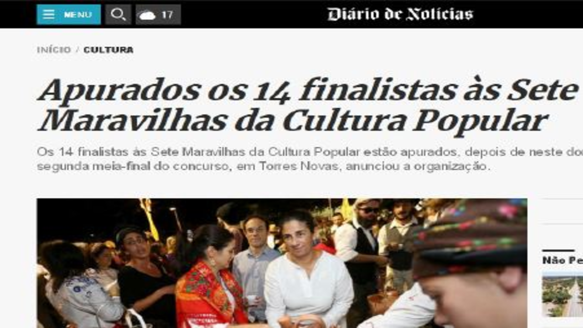 Apurados os 14 Finalistas às 7 Maravilhas da Cultura Popular®- Sical
